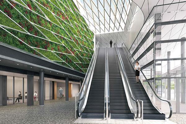 (仮称)神田錦町二丁目計画 緑あふれるエントランス