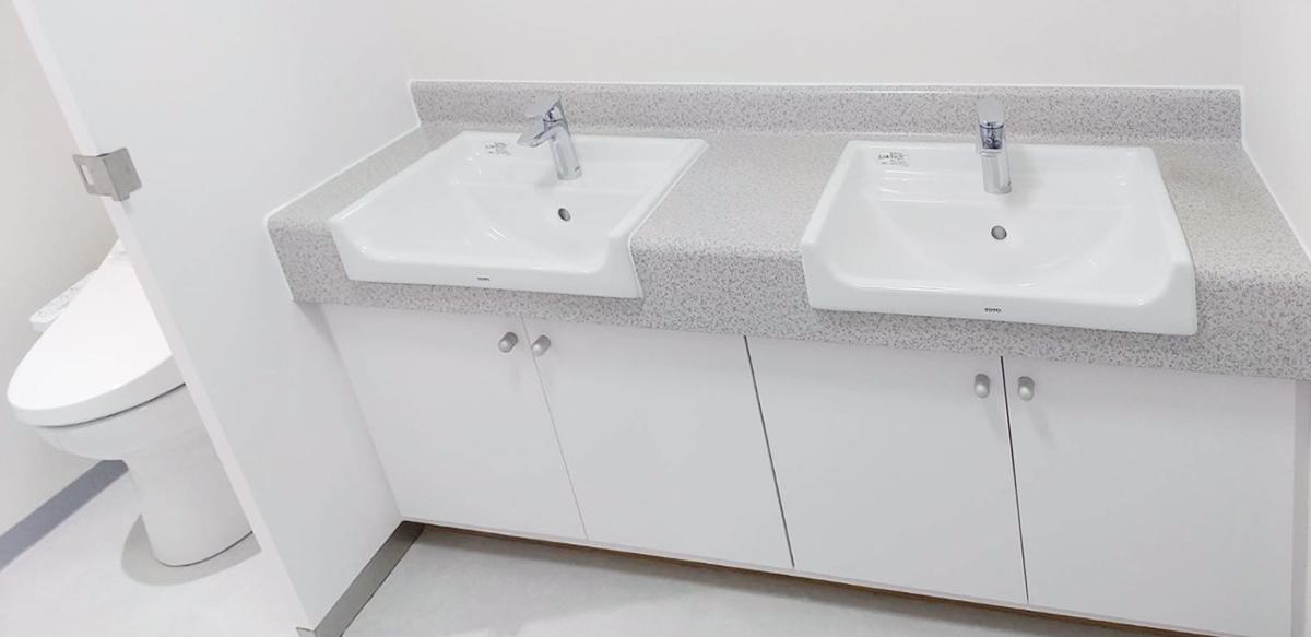 募集フロアはトイレ・給湯室を全面リニューアル