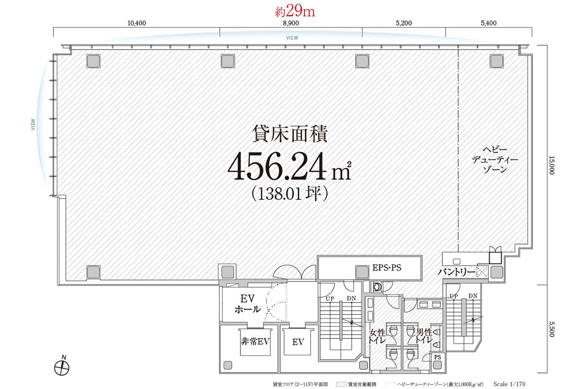 PMO渋谷Ⅱ 2~11F平面図