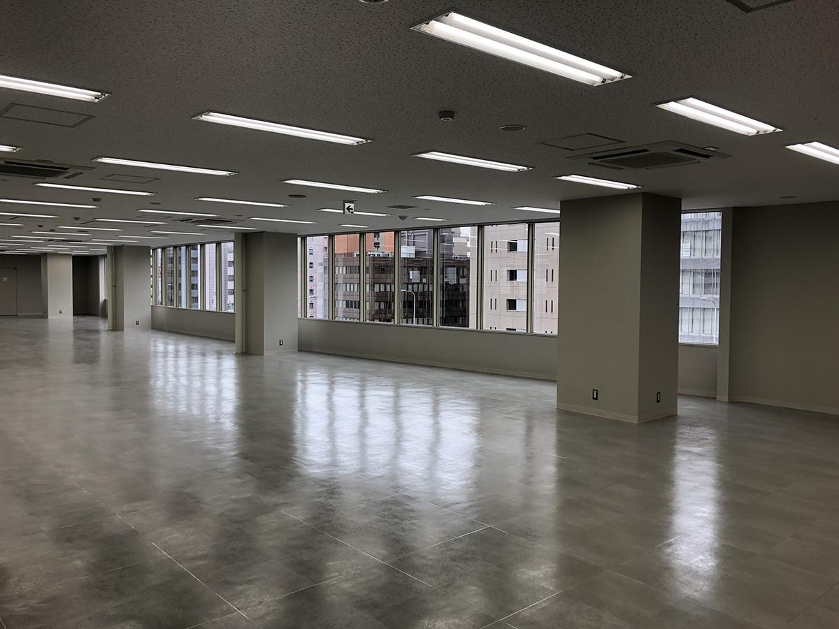 キング大阪ビル基準階貸室内