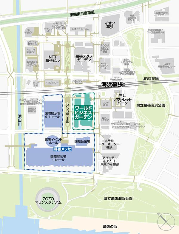 ワールドビジネスガーデン 地図