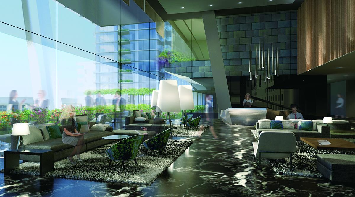 大名ガーデンスクエア 3階 オフィススカイロビー〈イメージパース〉