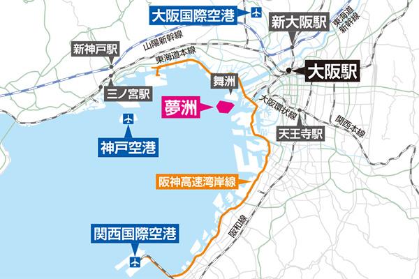 夢洲 地図