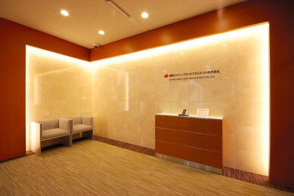 オフィス移転プロジェクト事例 /損保ジャパン・アセットマネジメント株式会社 / 受付