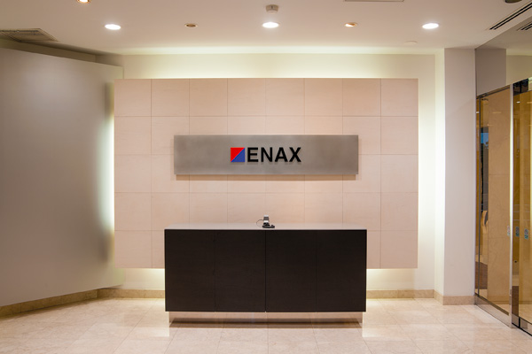 オフィス移転プロジェクト事例 /エナックス株式会社 / 受付