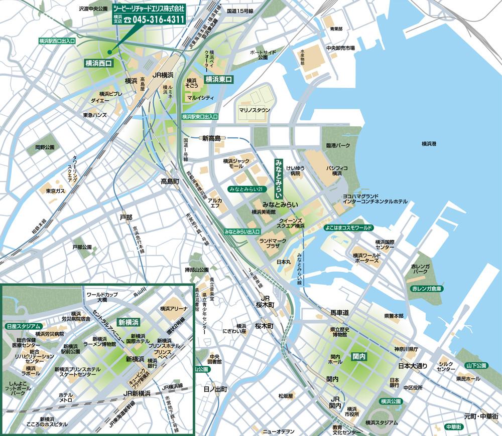 東京&横浜ビジネスゾーンガイド 新宿区・渋谷区 MAP