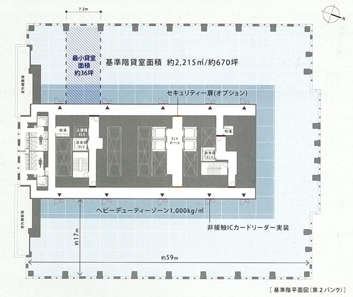 仙台トラストタワー 基準階平面図