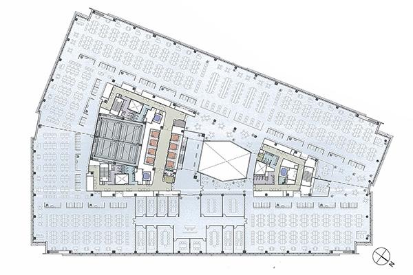 高層基準階(14階)平面図