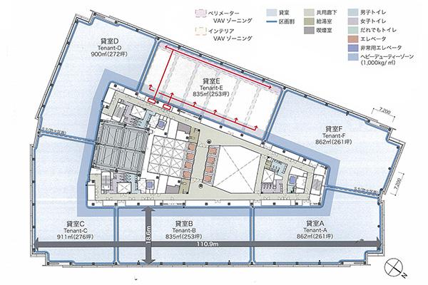 低層基準階(7階)平面図