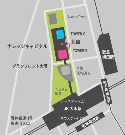 グランフロント大阪 ナレッジキャピタル MAP