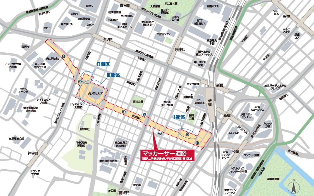 マッカーサー道路MAP