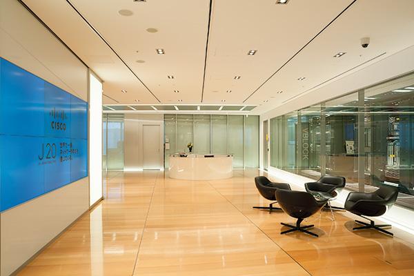オフィス移転プロジェクト事例 / シスコシステム合同会社 / エントランス