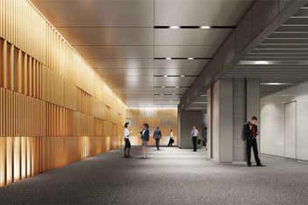 広島二葉の里プロジェクト オフィスエントランスホール