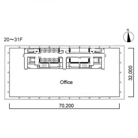 20階〜31階 平面図