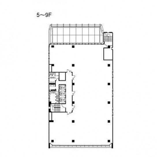 5階〜9階 平面図