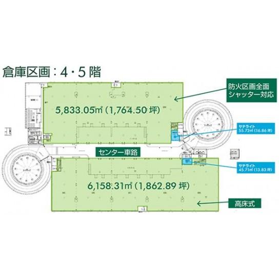 4階〜5階 平面図