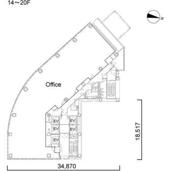 14階〜20階 平面図