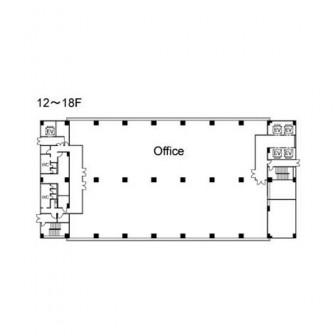 12階〜18階 平面図
