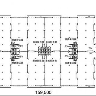 2階〜3階 平面図