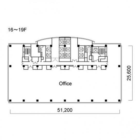 16階〜19階 平面図