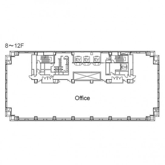8階〜12階 平面図