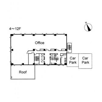 4階〜12階 平面図