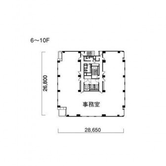 6階〜10階 平面図