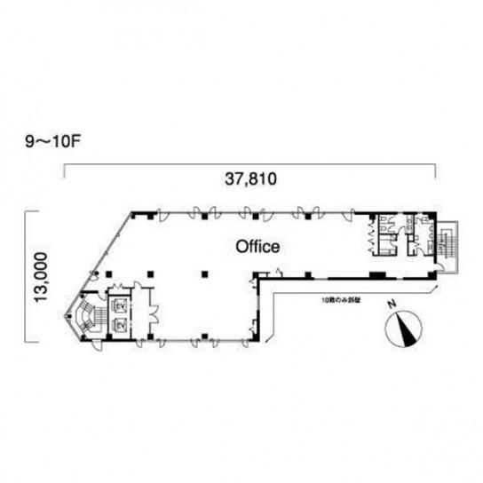 9階〜10階 平面図