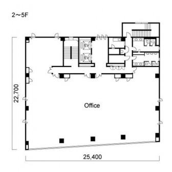 2階〜5階 平面図