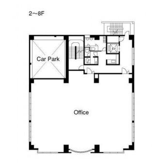 2階〜8階 平面図