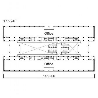 17階〜24階 平面図