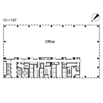 10階〜15階 平面図