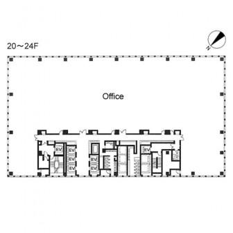 20階〜24階 平面図