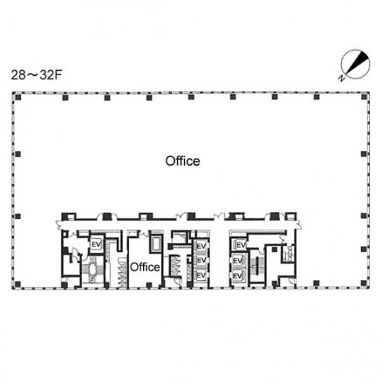 28階〜32階 平面図