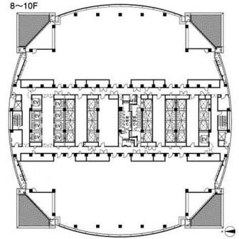8階〜10階 平面図