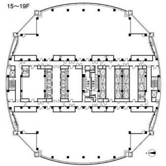 15階〜19階 平面図