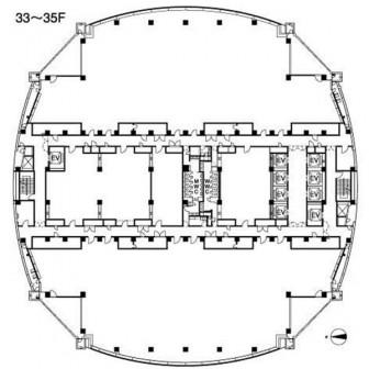 33階〜35階 平面図
