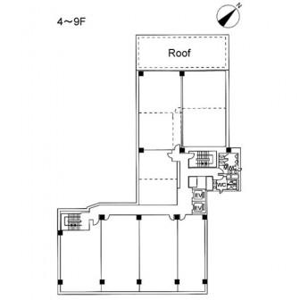 4階〜9階 平面図