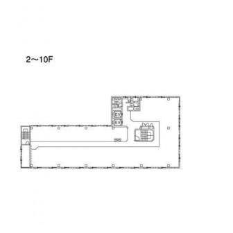 2階〜10階 平面図