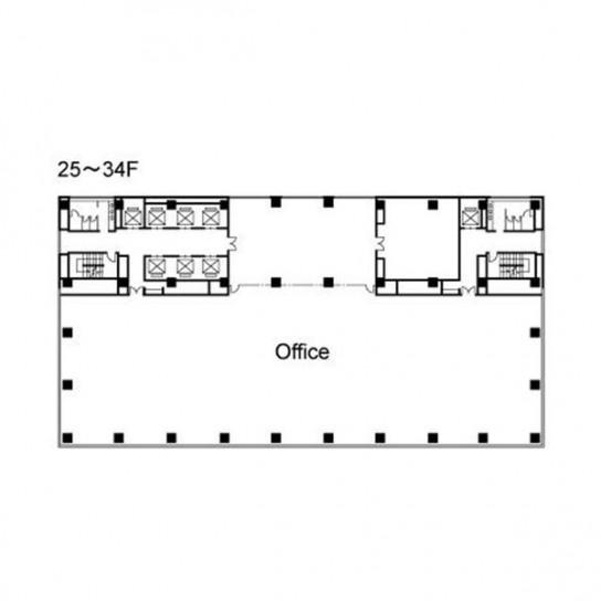 25階〜34階 平面図