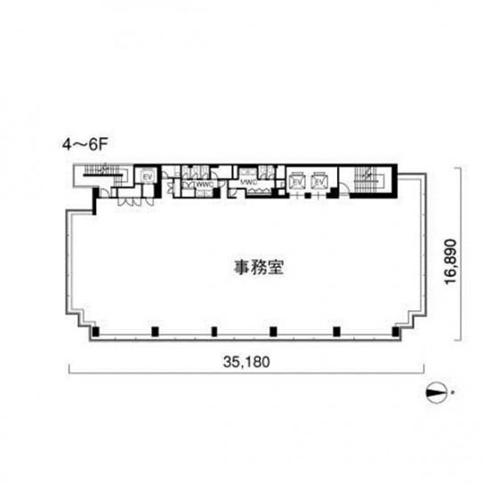4階〜6階 平面図