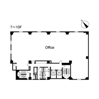 7階〜10階 平面図