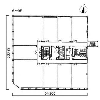 6階〜9階 平面図