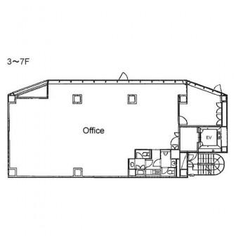 3階〜7階 平面図