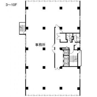 3階〜10階 平面図