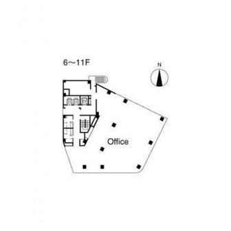6階〜11階 平面図