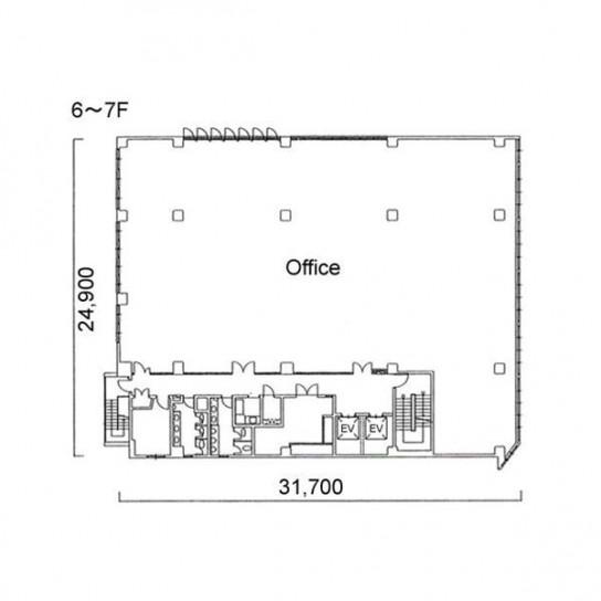 6階〜7階 平面図